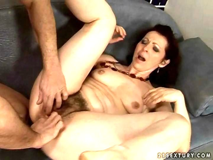 Hairy granny squirt