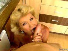 Busty granny in hard POV action