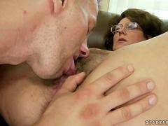 Old bitch getting fucked pretty hard feature