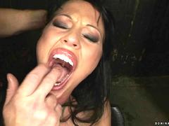 Busty bitch gets bondaged and fucked