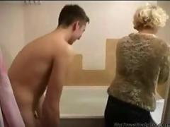 Russian mature milf And Young Guy  have sex