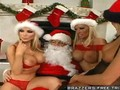 Hot Blondes wait for Santas Cock to Cum down the Chiminey