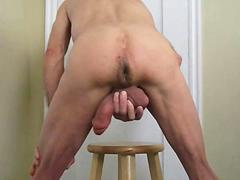 Big pumped cock bareback self ass fuck and cum porn