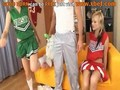 Cute cheerleaders get their holes throughly fucked