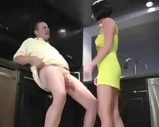 Extreme balls kicking dominatrix