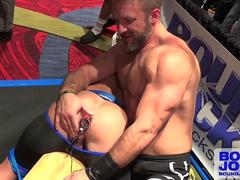 JR Bronson And Dirk Caber - Electro Butt Plug In Public