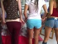 Two young college girls enjoying penises clip 17