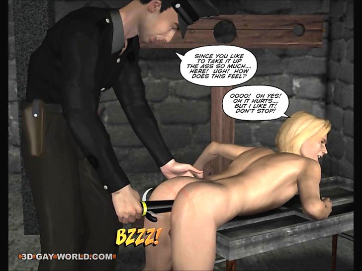 Gay spanking 3d toons