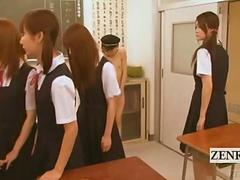 Subtitled CFNM nudist Japanese student teased by class