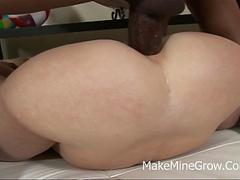 Young brunette fucked hard and got a facial film 3
