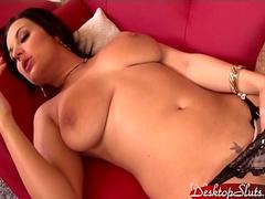 Carmen Croft Strips and Plays with her Pussy