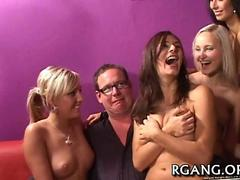 Great group sex action gangbang