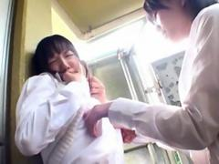 Asian kinky student seduces her shy lesbian friend