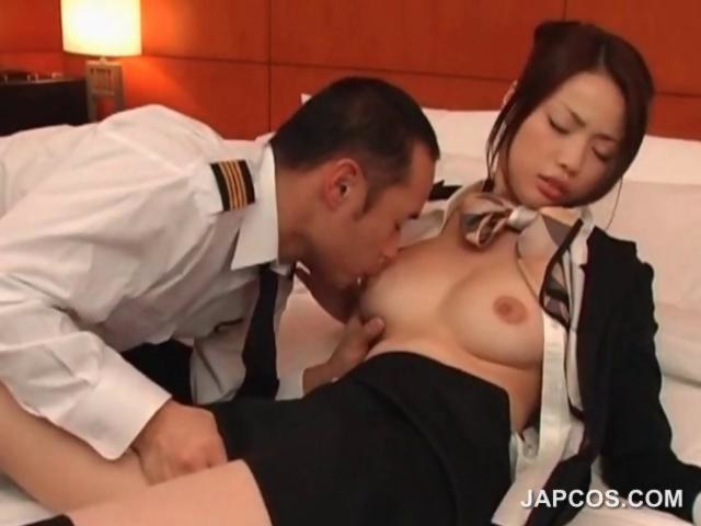 asian flight attendant fuck