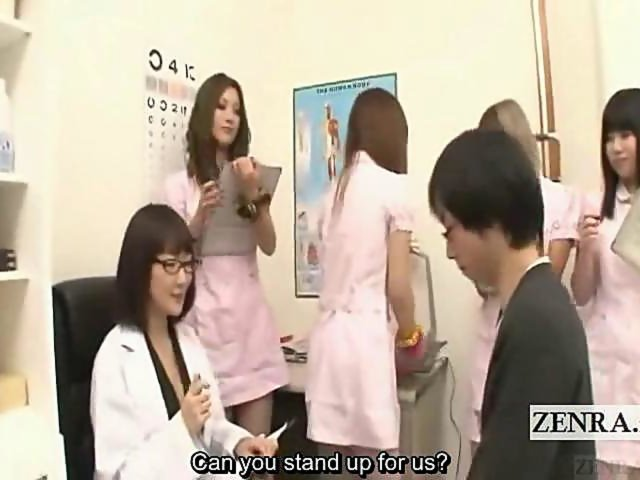 japanese handjob class - Subtitled CFNM Japanese nurses handjob blowjob measure on GotPorn (2838671)