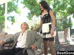 Maid Brings Him A Sandwhich After Sex