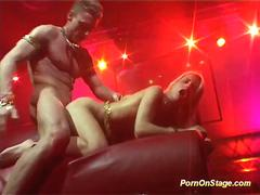 amazing hot oriental fuck on public show stage