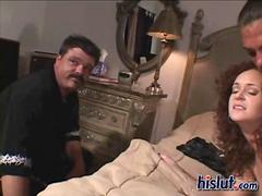 Kitty ass got screwed in front of her hubby