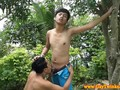 Twink teen Asian gives his boyfriend head HD