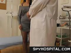 Medical hidden cam installed in gyno clinic
