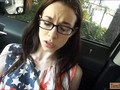 Nerdy teen tali dava nailed by stranger in the backseat film