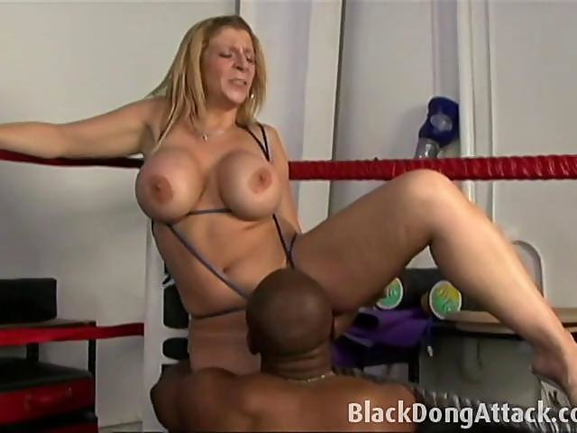 Sara jay and in a boxing ring