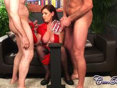 British Milf Wendy Taylor does the CUM Bucket challenge