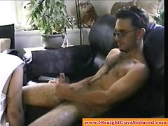 Amateur straight guy tugs dick for dude