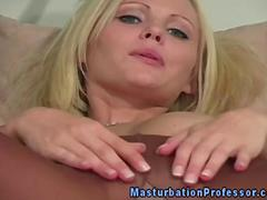 Stocking fetish blonde stripping naked
