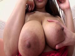 Dirty Japanese slut with big tits gets her hairy pussy stuffed deep and hard