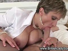 Lady Sonia gets fucked and she sucks a dick