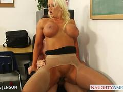Superb babe in pantyhose Alura Jenson fuck
