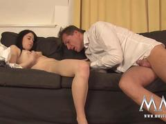 MMV FILMS Freezing German Teen tricked into warm cock