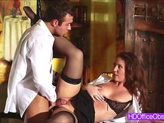 Sexy Secretary Maddy OReilly loves riding in his boss bigcock