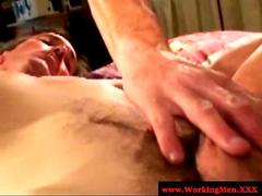 Dirty biker redneck in anal play