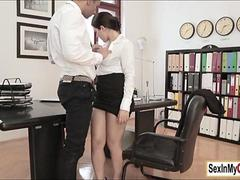 Wet Secretary Valentina Nappi fucks hard