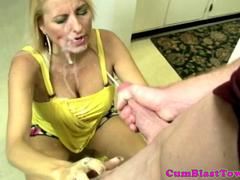 Milf handjob amateur facialized