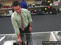 Broke dude gets fucked for cash in a pawnshop