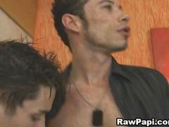 Wild Latino Gay Eat Cock While Hot Bareback