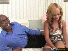 Ebony hottie melrose foxxx deepthroats and fucks big black cock film