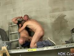 Workman bears ass creamed