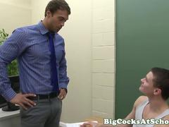 Hung twink assfucked in classroom by teacher