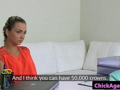 Casting eurobabe lickedout by lesbian agent