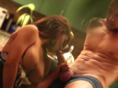Classy chick pleases a stud with her hot pussy