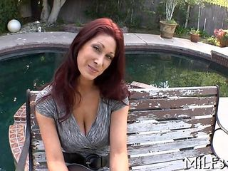 Redhead MILF doesnt stop at teasing