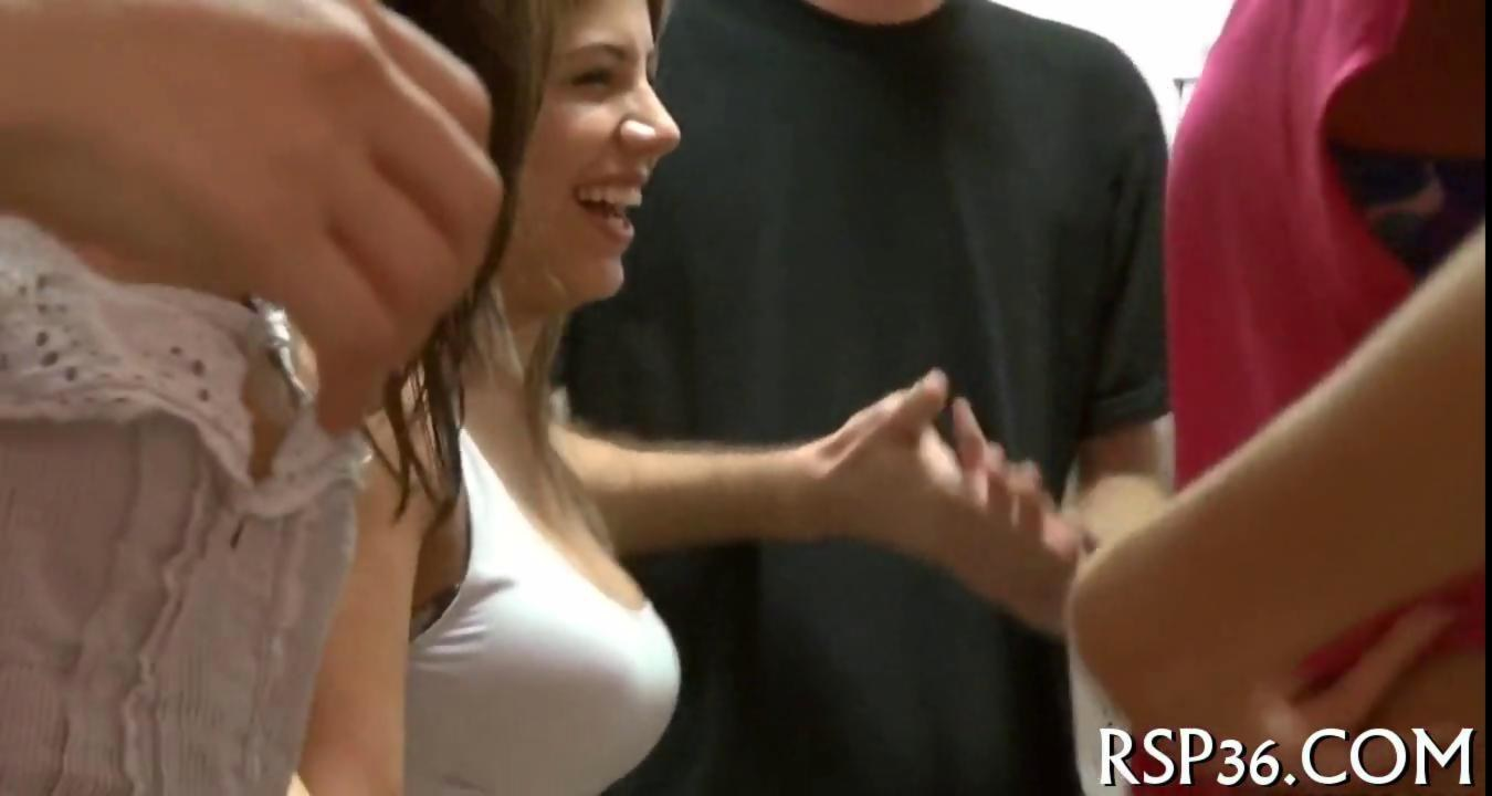 Big college tits party