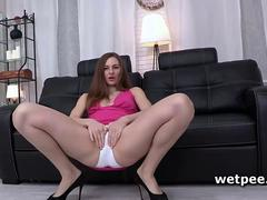 fingering her wet pussy so she gets her strong orgasm