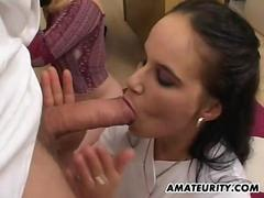 2 amateur girlfriends suck and fuck 2 doctors with facials