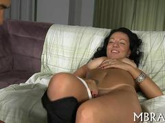 South American slut with tan lines gets impaled on a  cock