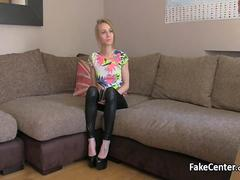Skinny slut fucked at casting couch